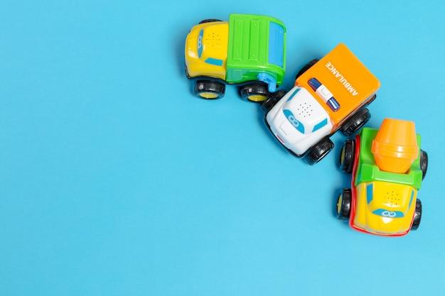 Детские игрушки, вид сверху