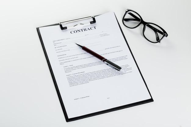 ペンでの業務契約書