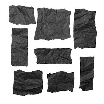 Текстура черной бумаги, текстура мятой бумаги