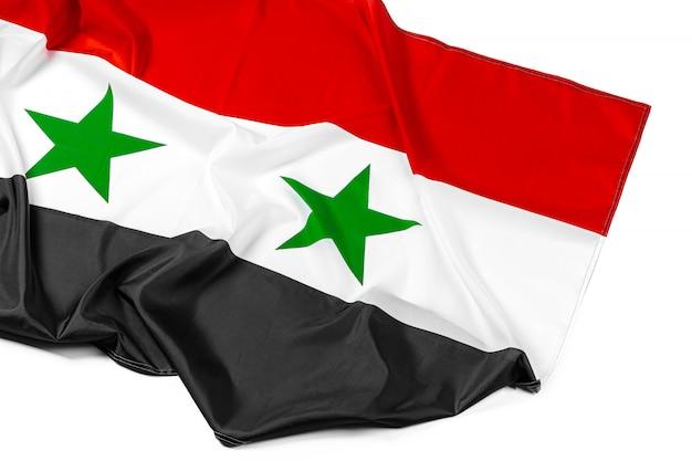 Сирийский флаг на белом