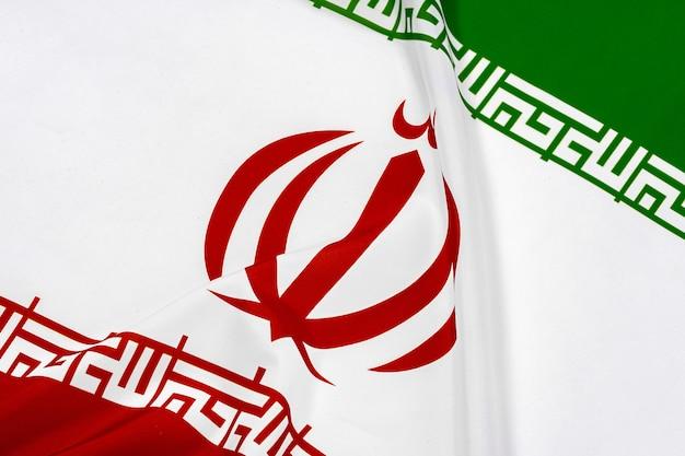 白のイランの国旗