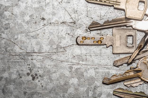 古いキーの背景