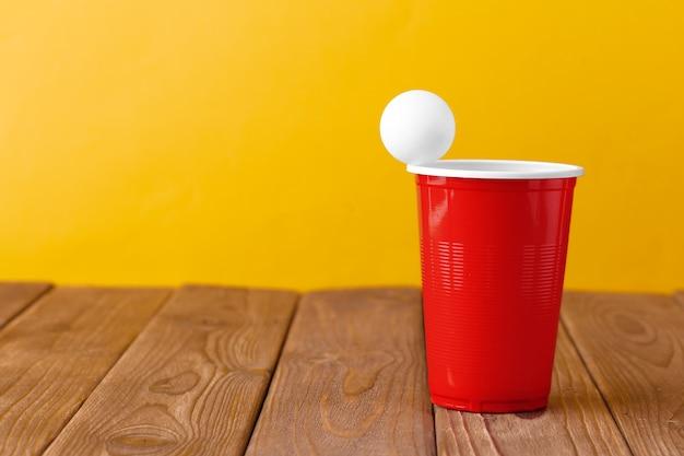 カレッジパーティースポーツ。ビールポン