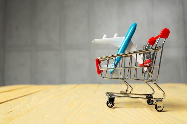 ショッピングカート、航空機