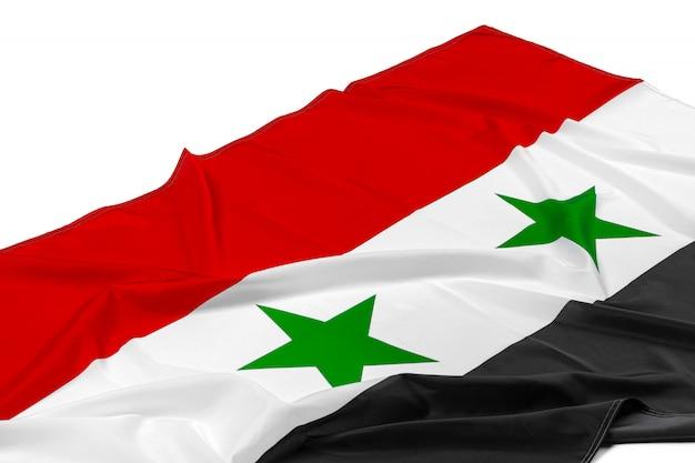 ファブリックシリアの旗の写真をクローズアップ