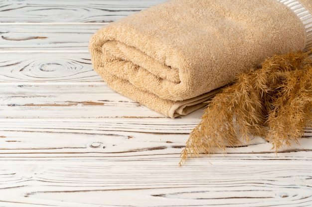 家事。すぐに使える清潔なタオル