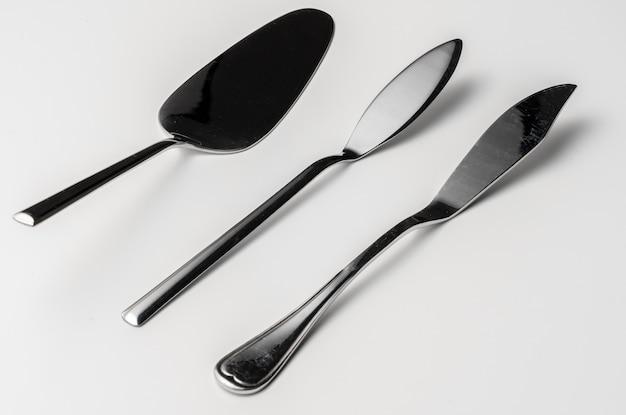 Набор столовых приборов из серебра