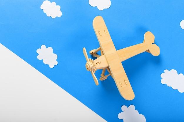 飛行機で旅行の概念