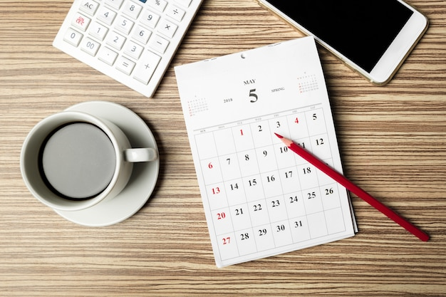Рабочее пространство. календарь