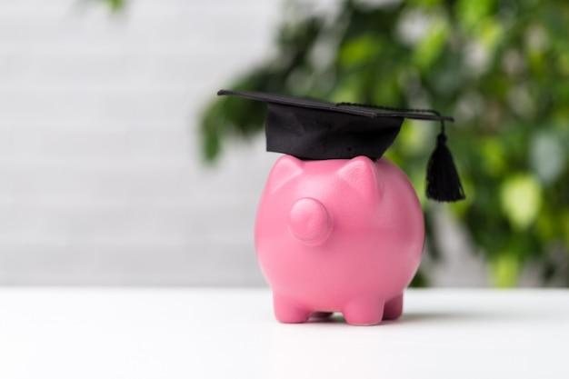 卒業キャップ付き貯金箱
