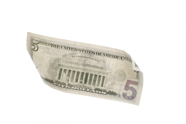 Доллар изолированный на белизне