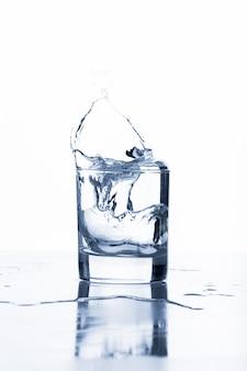 ガラスからの水しぶき