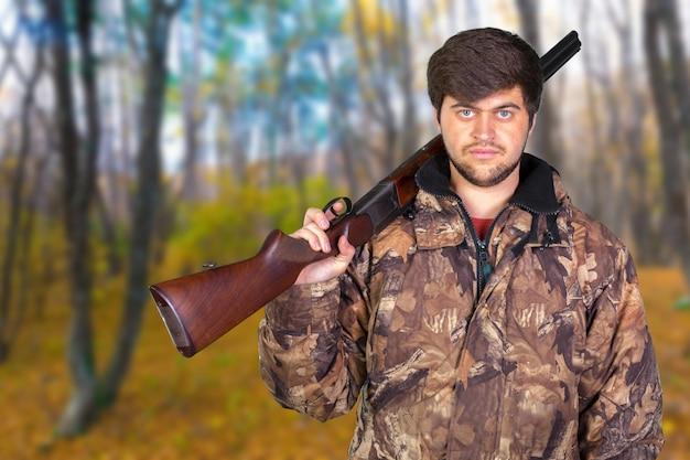 Охотник со своей винтовкой