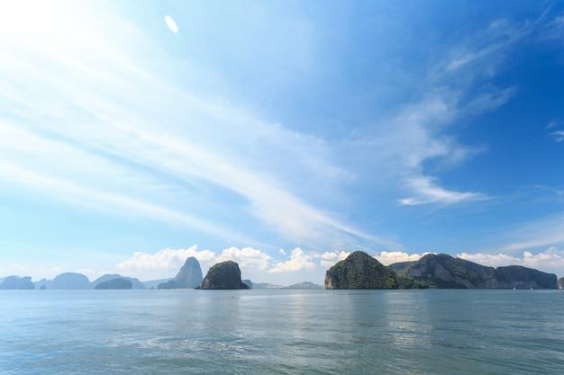 熱帯の海。休暇。