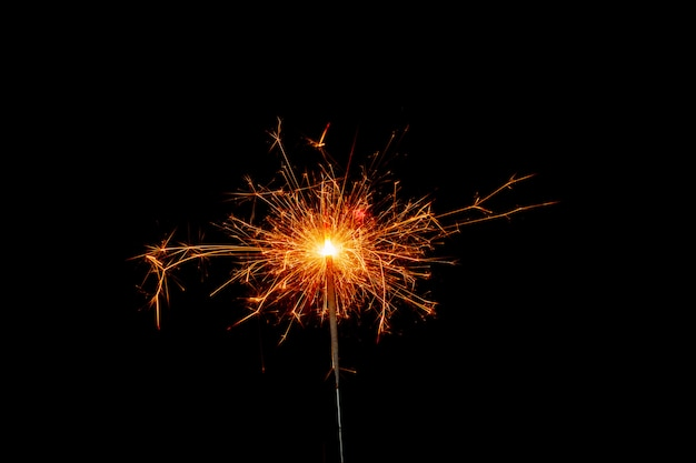 線香花火。クリスマスの飾り。