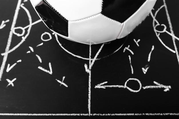 Футбольная доска с меловой тактикой
