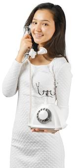 Милая девушка по телефону