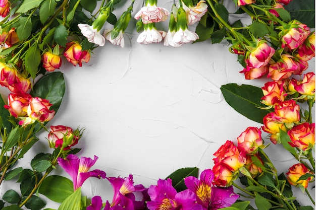 コピースペースと生花の背景