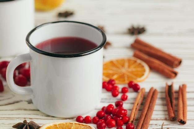 ホットグリューワインと木のスパイスと秋の組成
