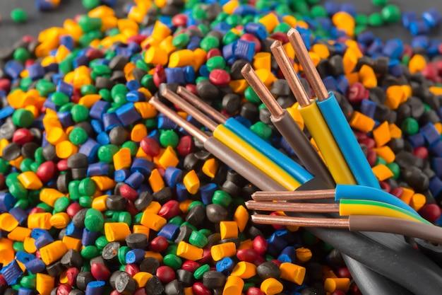 ケーブル用のカラフルなプラスチックポリマー顆粒