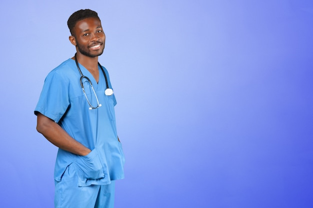Афро-американский врач человек.