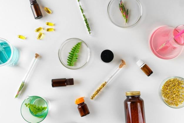 Приготовление биологически активной добавки к пище в лаборатории с листьями растений