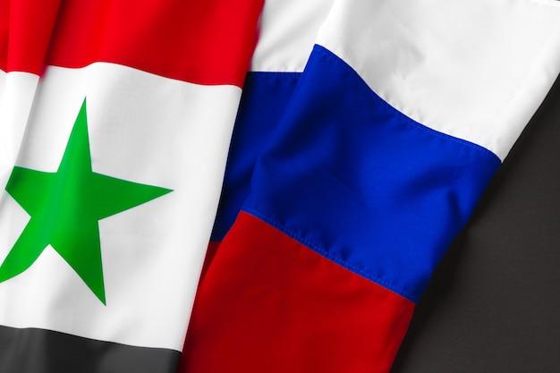 Флаги россии и сирии вместе