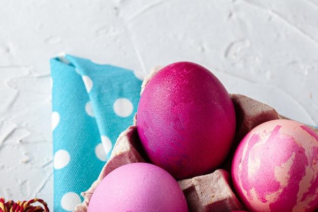塗装卵のクローズアップ