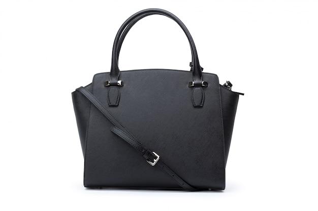 白い背景の上のファッショナブルな女性のハンドバッグ