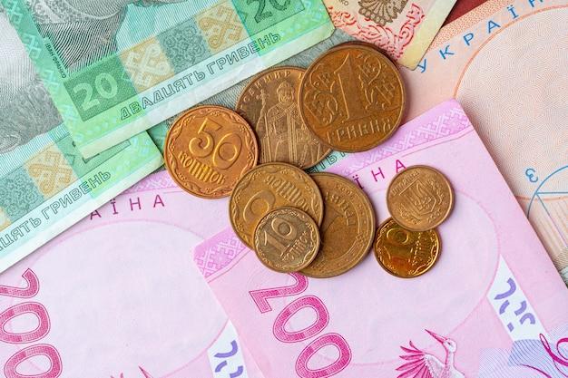 ウクライナのお金グリブナはカートンにクローズアップ