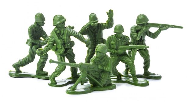 Коллекция традиционных игрушечных солдат