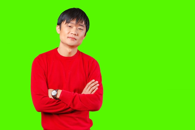 Красивый молодой азиатский человек