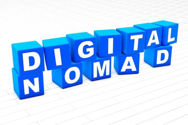 デジタル遊牧民単語イラスト