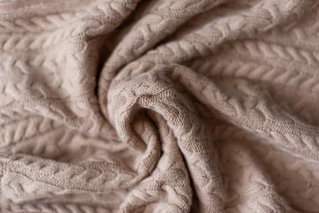 Вязаный свитер фон, текстура с копией пространства
