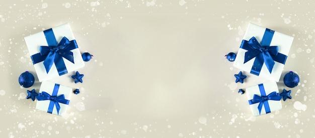 メリークリスマスとハッピーホリデーグリーティングカード、フレーム、バナー