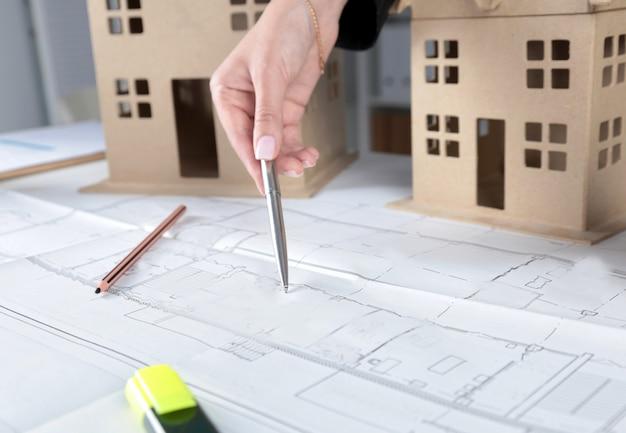 建築設計図の新しいモデル家のイメージ