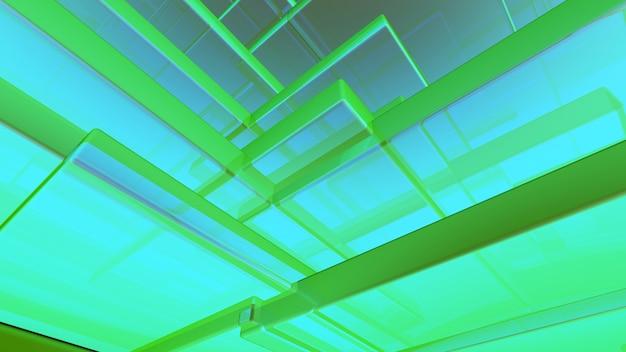 Абстрактный синий и зеленый фон