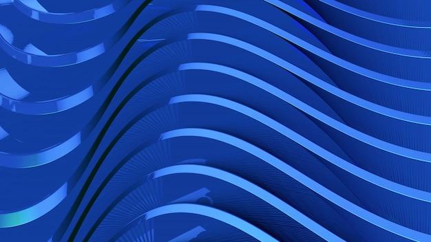 流れる波状の抽象的な青い背景
