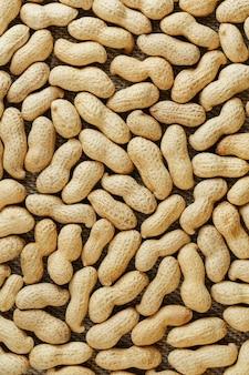 シェルでピーナッツテクスチャ食品背景。