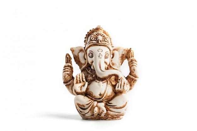 Индуистский бог ганеша на белом