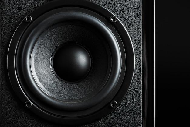 Мультимедийная акустическая система динамик крупным планом