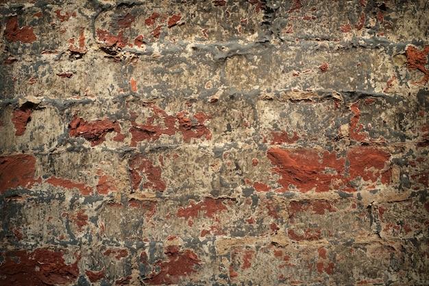Текстура старой красной кирпичной стены фон