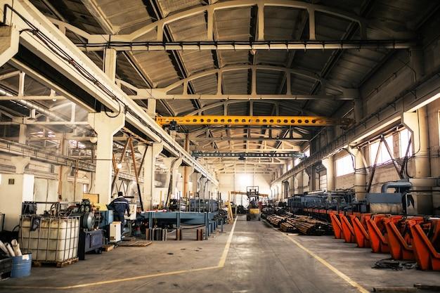 製造施設。生産のための機器
