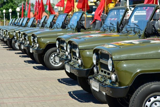 Военная техника на площади в минске в беларусии