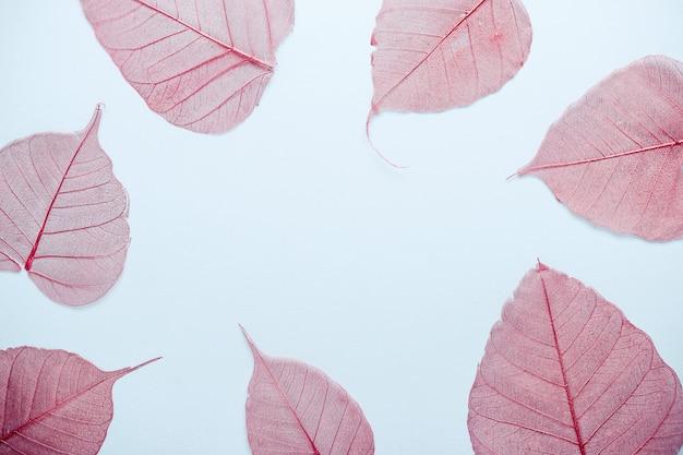 透かし彫りピンク紅葉フレーム