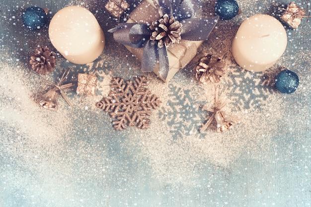 クリスマスの装飾ギフト、キャンドル、クリスマスのおもちゃ