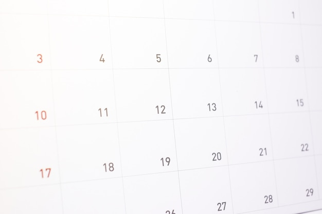 活動の背景やテクスチャのカレンダーに情報の予約。