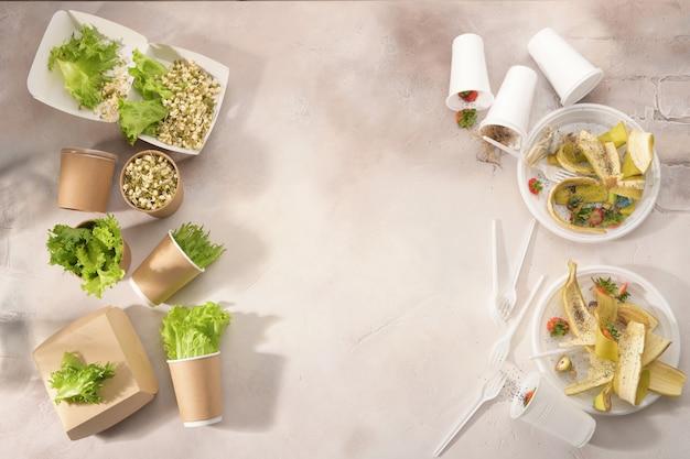 軽い生分解性プラスチック製食器、二次加工。