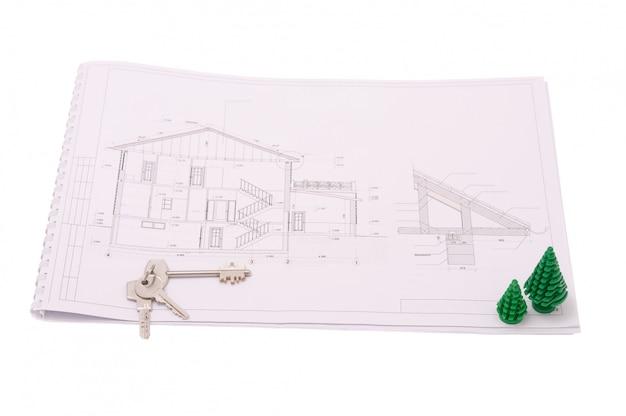 近代住宅の建築図面