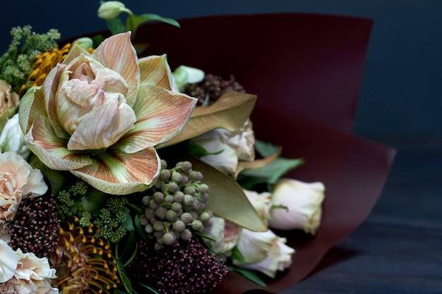 パステルカラーの花束
